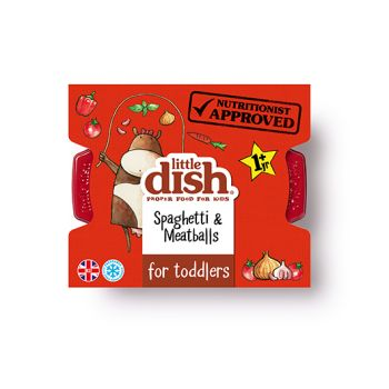 Our mini meatballs are made with only the finest British beef mince, and have a soft, melt-in-the-mouth texture, which is perfect for little ones who are learning to chew. These flavour-packed meatballs are served on short spaghetti, so they're easy to eat, with a tasty tomato sauce. This is Hillary's eldest son Monty's absolute favourite meal. He has been known to demolish a plateful in minutes and was very specific about the recipe!